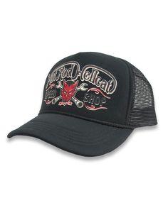 Hotrod Hellcat Herren Kappe/Cap Devil. Tattoo,Biker,Oldschool,Custom Style