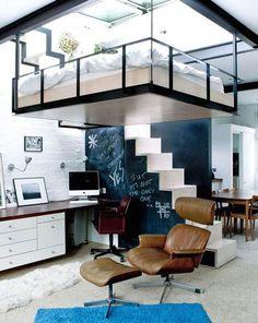 10+ Masculine Loft Bedroom Ideas & Inspirations #BedroomIdeas