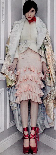Dior Couture by Patrick Demarchelier Christian Dior   Kimono: Spring 2003 Couture; Jacket: Fall 2010 Couture; Skirt: Fall 2003 RTW; Shoes: Fall 2007 Couture