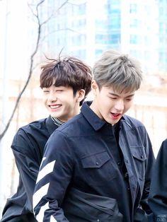 Monsta X Hyungwon and Shownu // ahhhh friendship kills me so much