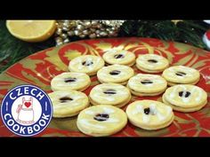 Czech Cookbook - Video Recipes in English - US Measurements - US Ingredients Slovak Recipes, Czech Recipes, Cookbook Recipes, Cookie Recipes, Lemon Cookies, English Food, Polish Recipes, Cookie Bars, Christmas Cookies