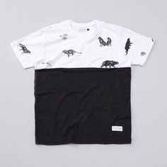 Raised By Wolves Jungle Book Colour Block T Shirt White / Black (£32.00) - Svpply