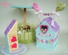 Hidden Hearts in Bird House Rosie Cake-Diva
