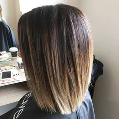 Sombre, Blunt Long Bob Haircut                                                                                                                                                                                 Más