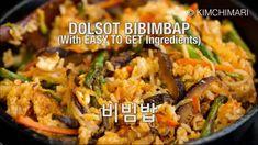 Bulgogi - Korean Beef BBQ Korean Potato Salad, Korean Cucumber Salad, Dolsot Bibimbap, Bibimbap Recipe, Korean Food, Korean Recipes, Korean Rice, Korean Beef, Beef Recipes