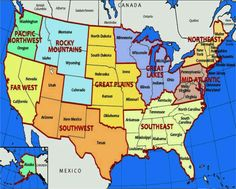 Map Of Us States Labeled