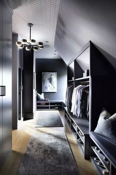 Hammersmith Atlanta, An Upscale General Contractor Hammersmith Atlanta, An Upscale General ContractorRaw yet sophisticated loft style Bedroom. Loft Style Bedroom, Attic Master Bedroom, Attic Bedroom Designs, Loft Room, Attic Rooms, Attic Spaces, Closet Bedroom, Home Bedroom, Attic Bedroom Storage