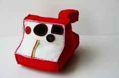Red Polaroid Plush Camera