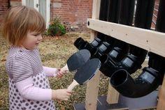 bat pipes...I want to make this entire outdoor learning space! - adventureideaz.comadventureideaz.com