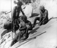 """Australia's Aboriginal culture  probably represents the oldest surviving  culture in the world, with the use of stone tool technology and painting  with red ochre pigment dating back over 60,000 years. Australians never  developed an """"iron age"""", """"bronze age"""", or pottery, and the terms """"palaeolithic""""  (old stone age) and """"neolithic"""" (new stone age) are not used in Australia,  because stone technology did not progress in the same way as the rest of the  world."""