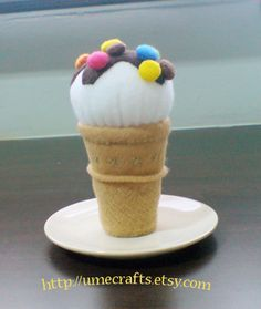 Felt Ice cream cone by Lit'l Brown Bird, via Flickr