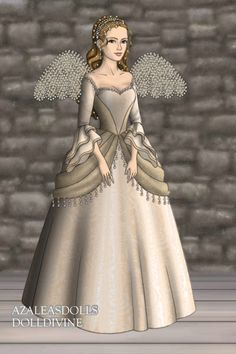 Angel ~ by TheTudorQueen16 ~ created using the Tudors doll maker | DollDivine.com