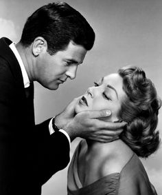 With Lee Philips in PEYTON PLACE (1957).