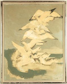 Lot 526: Joseph Jeswald O/C Birds - The Cobbs   Artfact