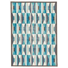 This rug incorporates all our main living colors so well, it's kind of scary.