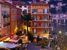 Villefranche-sur-Mer, France Welcome Hotel. I actually stayed here in 2009. Lovely town!