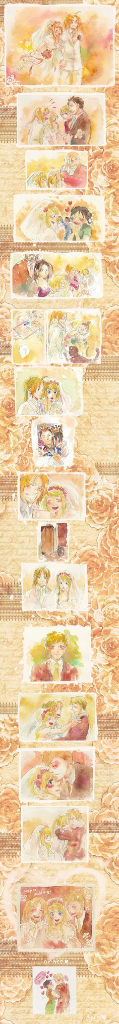 Ed and Winry wedding day OH THE KAWAIINESS!!!!!!!!!!!❤️❤️❤️❤️❤️❤️❤️❤️❤️