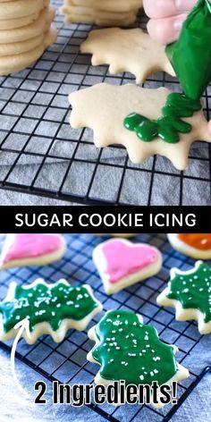 Christmas Sugar Cookies, Christmas Snacks, Christmas Cooking, Holiday Cookies, Frosting For Christmas Cookies, Gingerbread Cookies, Icing For Shortbread Cookies, Buttercream Frosting Recipe For Cookies, Christmas Candy