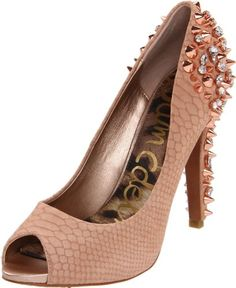 Sam Edelman Women's Lorissa Pump  shop all Sam Edelman customer reviews (35)  how it fits size: width: B color:  Aqua  Black Leather  Black/White  Egyptian Gold  Nude  Spanish Rose  Nude Leather  Gunmetal  $179.99