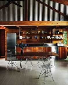 A beautifully designed, industrial yet woodsy kitchen. An unbeatable combo in our books!