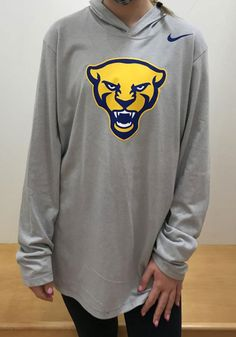 Nike Pitt Panthers Mens Grey Marled Long Sleeve Hoodie - 19861377 Pitt Panthers, Pittsburgh, Hooded Sweatshirts, Hoods, Pullover, Nike, Grey, Long Sleeve, Sleeves