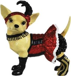Aye Chihuahua CAN CAN DOG Figurine Red Sequin Dress NIB Chihuahuas Dogs - http://collectiblefigurines.net/aye-chihuahua/aye-chihuahua-can-can-dog-figurine-red-sequin-dress-nib-chihuahuas-dogs/