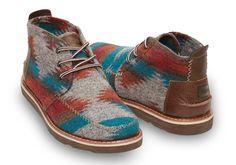 Chocolate Brown Wool Men's Chukka Boots | TOMS
