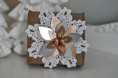 The holidays are the most wonderful time of the year for gift boxes and gift wrapping! This gift box wrapping tutorial by Tara Mihalech is such a fun way to bring the holiday cheer to your gifts using dies by Tim Holtz!