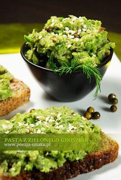 Pasta z zielonego groszku i z zielonym pieprzem / Paste with green Peas and Green Pepper (recipe in Polish)