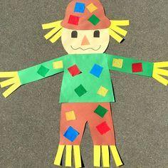 fall crafts for kids preschool giant scarecrow craft project for preschool and kindergarten Fall Preschool Activities, Preschool Projects, Kindergarten Crafts, Daycare Crafts, Classroom Crafts, Preschool Art, Toddler Crafts, Craft Projects, Fall Crafts For Preschoolers
