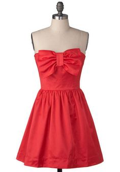 Cute Dresses for Teens | red-cute-bow-homecoming-dress
