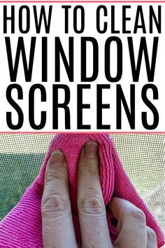 Get rid of pollen and dirt on your window screens easily. Check out how to clean window screens without removing them. Baking Soda Cleaning, Toilet Cleaning, Cleaning Recipes, Bathroom Cleaning, House Cleaning Tips, Deep Cleaning, Cleaning Hacks, Cleaning Window Screens, Cleaning With Hydrogen Peroxide