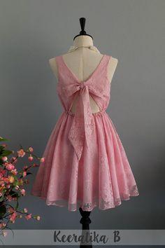 Rosa Kleid Rosa Dekoband rosa Kleid Party von LovelyMelodyClothing
