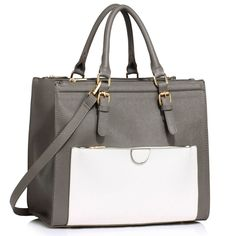 Womens Grey/White Laptop Office Bags Faux Leather Shoulder Ladies Hand Bags – Linen and Bedding Duvet Cover Sale, Black Duvet Cover, Comforter Cover, White Cushion Covers, Cushion Covers Online, Leather Clutch Bags, Leather Purses, Designer Bags Sale, Linen Bedding