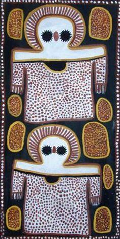 art & australian aboriginal indigenous - Lily Karadada ~ Wandjina