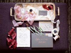 Элегантное приглашение на свадьбу #декор #украшение #ленты #приглашение #свадьба