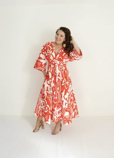 redemption: The Perfect Summer Dress – Emily Hallman Designs Dress Skirt, Skirt Set, Orange Fabric, Different Dresses, Pretty Black, Clothing Patterns, Sewing Patterns, Dressmaking