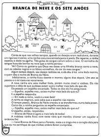 Para Compartilhar e Refletir: Atividades da Branca de Neve e os Sete Anões... School, Nova, Bb, Fairy Tale Activities, Tall Tales Activities, Reading Activities, Teacher Prayer, Index Cards, Short Stories