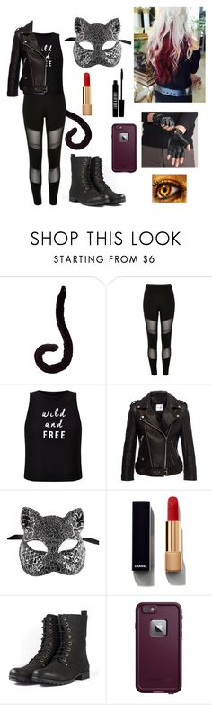 """she's got 9 life's, & a life of crime is one"" by royaldesigns890 ❤ liked on Polyvore featuring River Island, Miss Selfridge, Anine Bing, Lord & Berry, Chanel and LifeProof"