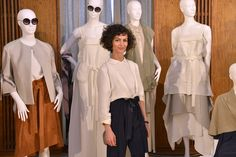 "Nobieh from NOBI TALAI in front of her SS16 collection during ""der Berliner Modesalon"" in Berlin"