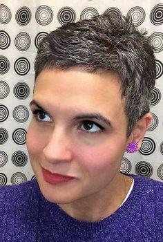Short Spiked Haircuts Grey Hair