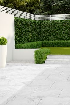 PorcelQuick Stainless Steel Trims are perfect for a quick and easy step profiling option Garden Tiles, Garden Paving, Outdoor Paving, Outdoor Landscaping, Landscaping Ideas, Outdoor Tiles, Outdoor Flooring, Outdoor Spaces, Back Garden Design
