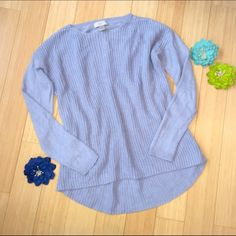 LOFT sz small blue sweater. High low sweater from the LOFT. Great condition, sz small. LOFT Sweaters Crew & Scoop Necks
