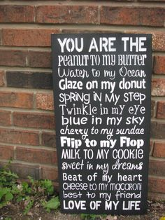 """Love this!  And as Julia Childs' husband would say """"You are the butter to my bread, you are the breath to my life."""""""