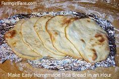 Farmgirl Fare: Recipe: How To Make Pita Bread, Pita Chips, & Pita Pizzas and My Search for the Perfect Pita Recipe