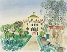 View Maison à Golfe-Juan by Raoul Dufy on artnet. Browse upcoming and past auction lots by Raoul Dufy. Impressionist Landscape, Landscape Paintings, Watercolor Paintings, Watercolours, Landscapes, Gouache, Raoul Dufy, Art Corner, Fauvism