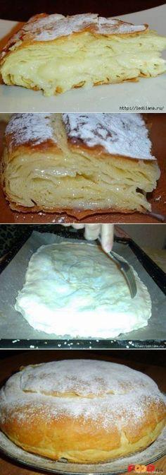Very tasty Egyptian pie // Людмила Пустовалова Russian Desserts, Russian Recipes, Baking Recipes, Dessert Recipes, Bread Shaping, Bulgarian Recipes, Sweet Pie, Snacks, Sweet Recipes