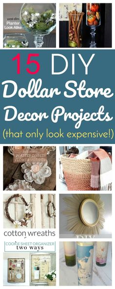 DIY Dollar Store Decor Projects That Only Look Expensive.' (via Lifestyle For Real Life) Home Project dollar stores 15 DIY Dollar Store Decor Projects That Only Look Expensive Diy Home Decor For Apartments, Diy Apartment Decor, Apartment Projects, House Projects, Wood Projects, Craft Projects, Dollar Tree Decor, Dollar Tree Crafts, Dollar Tree Finds