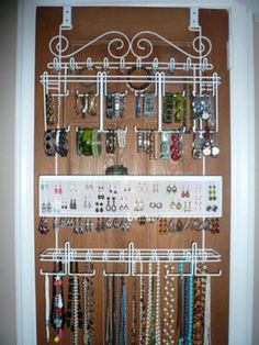 longstem-jewelry-organizers - I have one of these and absolutely love it. All your jewelry is visible and easy to get to!!