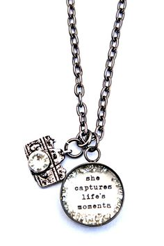 she captures life's moments necklace - I LOVE this! via @bethquinndesign